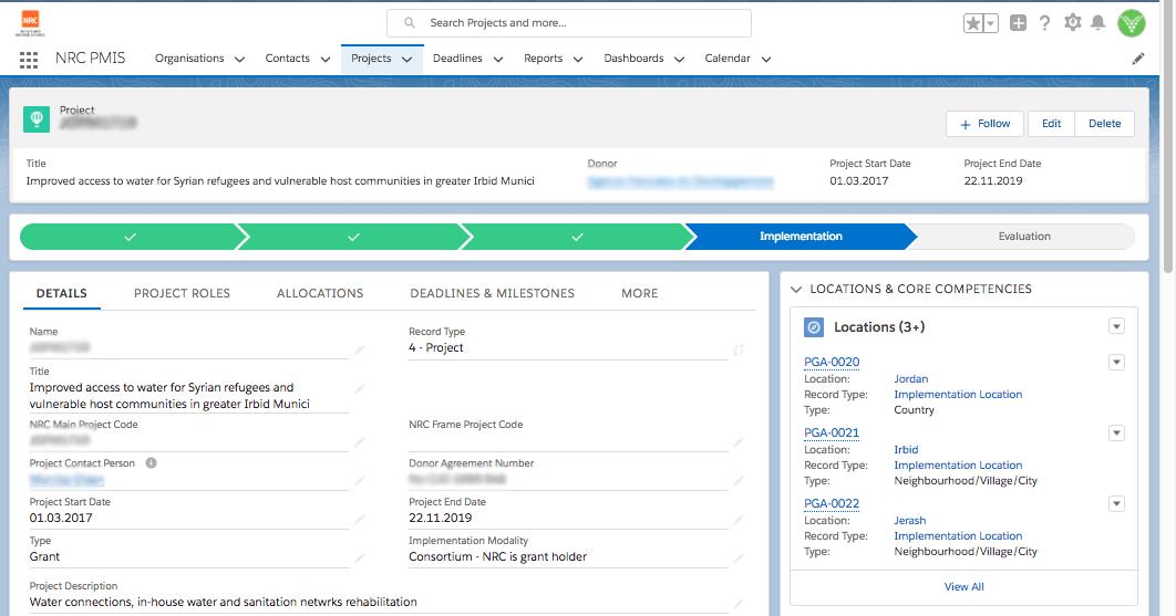 NRC project management information system (PMIS)
