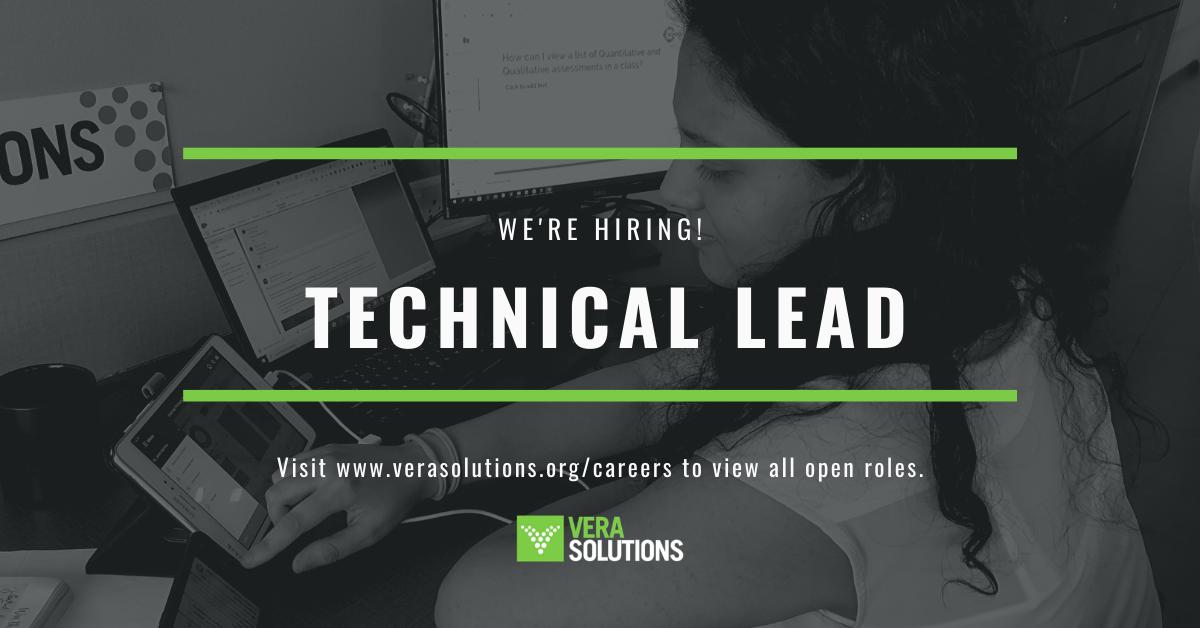Technical Lead   Vera Solutions