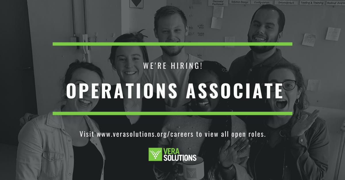 Operations Associate | Vera Solutions