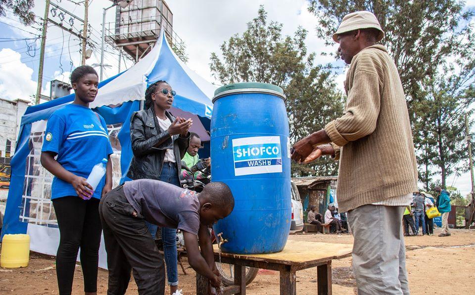 SHOFCO handwashing station in response to COVID-19
