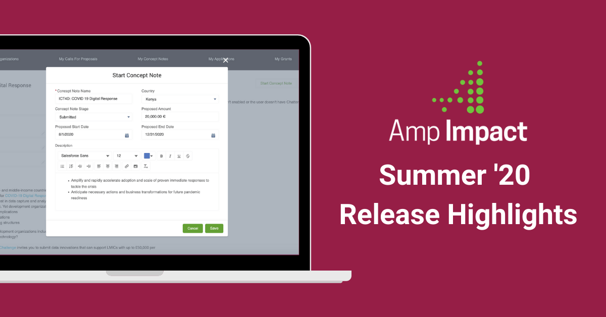 Amp Impact Summer 2020 Release