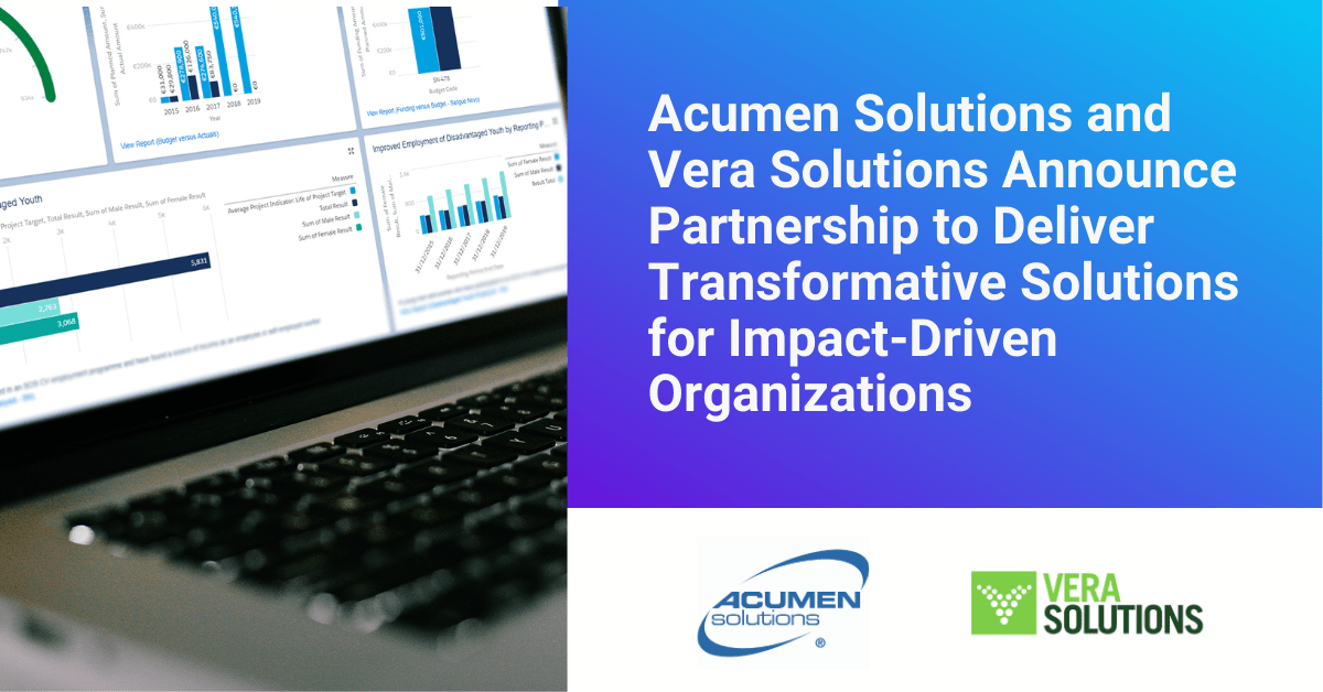 Acumen Solutions and Vera Solutions Announce Partnership to Deliver Transformative Solutions for Impact-Driven Organizations