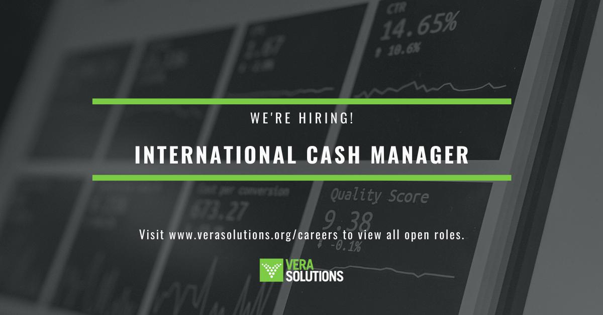 International Cash Manager   Vera Solutions Jobs
