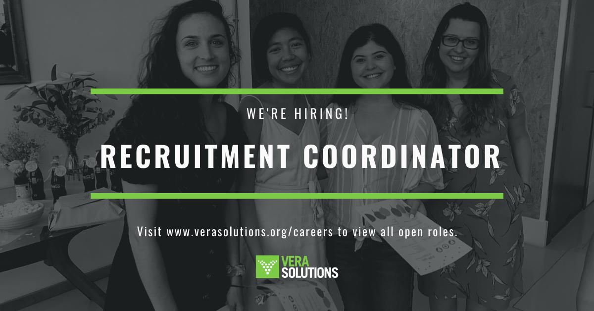 Recruitment Coordinator   Vera Solutions Jobs