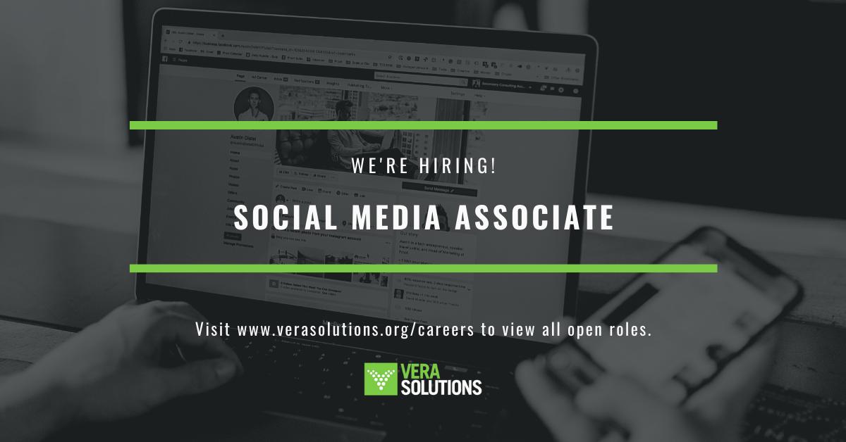 Social Media Associate   Vera Solutions Jobs