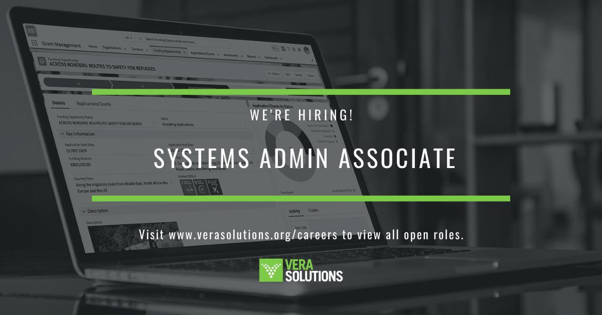 Systems Admin Associate   Vera Solutions Jobs