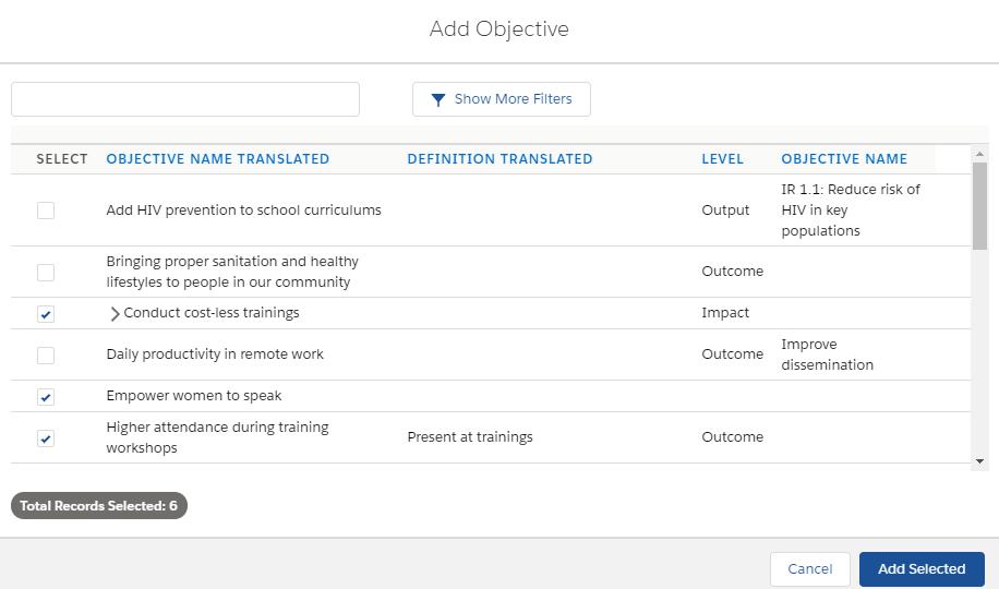 Amp Impact Objective Catalog