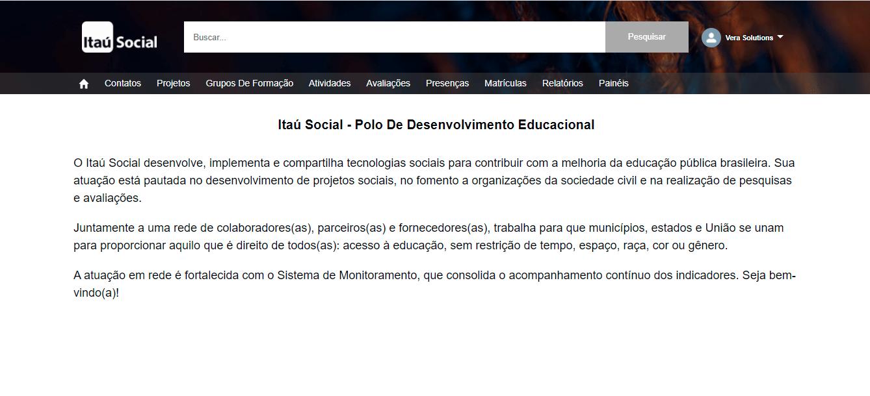 Itaú Social   Monitoring & Evaluation System