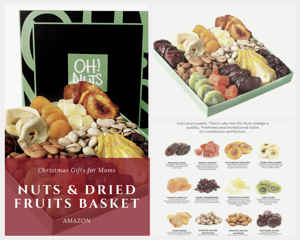 Holiday Nuts & Dried Fruits Basket. Insanely cool christmas gift your mom will love