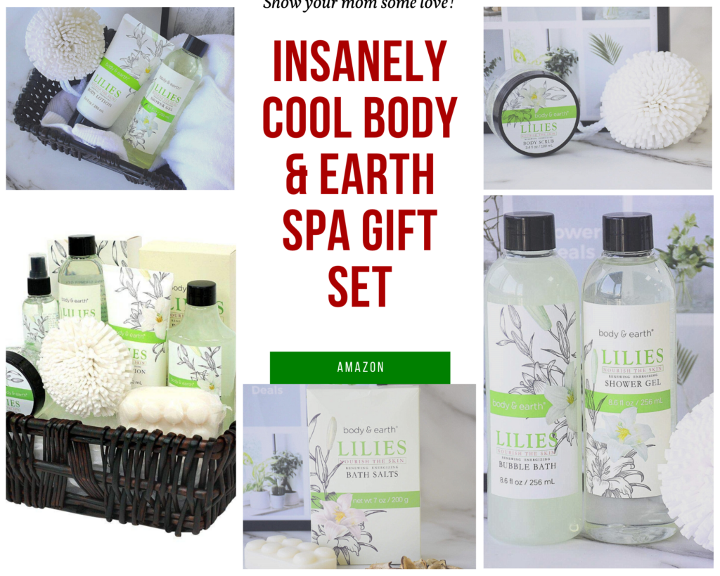 Body and Earth Spa Gift Basket. Insanely cool christmas gift your mom will love