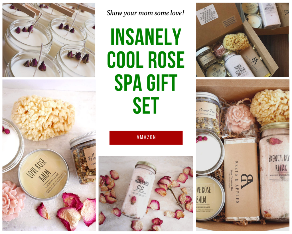 Beets & Apple's Rose Spa Gift. Insanely cool christmas gift your mom will love