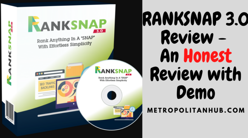 RANKSNAP 3.0 Review - An Honest Review with Demo