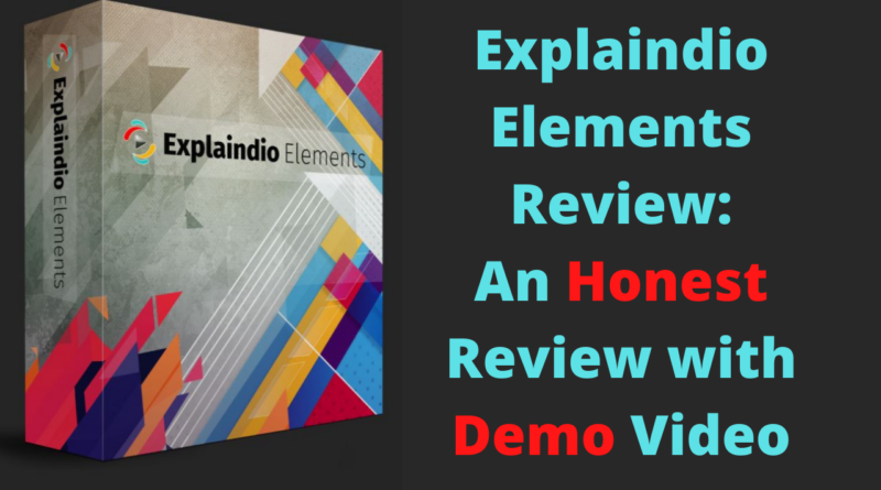 Explaindio Elements Review_ An Honest Review with Demo Video