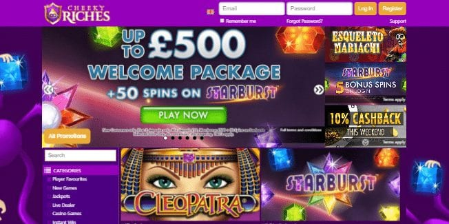 Online Cheeky Riches Gaming Site