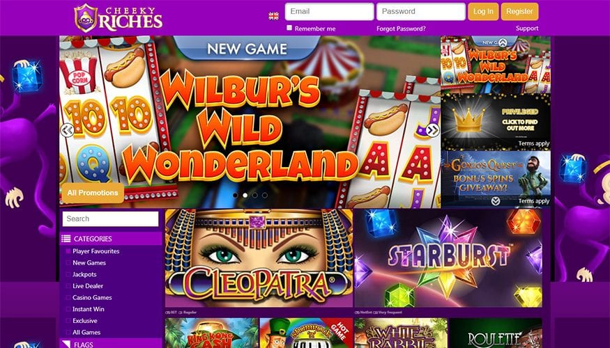 All Your Favourite Slots at Cheeky Riches