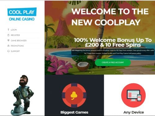 Cool Play Online Casino Offer a Generous Welcome Bonus