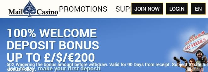 Mail Casino Has a Very User Friendly Home Page Along With a Huge Range of Games