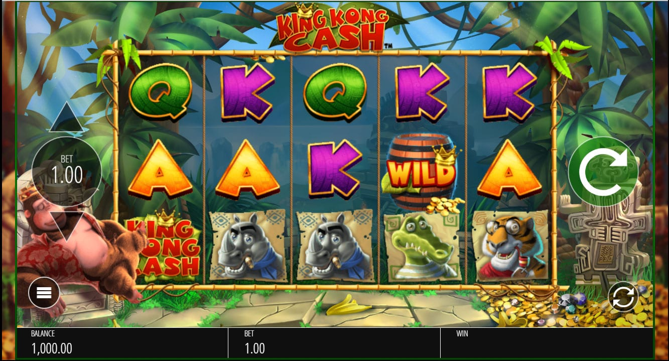 King Kong Cash and lots more at Monster Online Casino