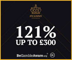 21 Casino Unique Welcome Bonus up to £300