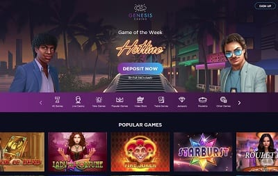 Try the Genesis Casino Game of the Week