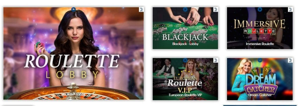 Roulette Lobby, Roulette VIP