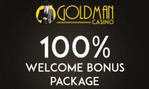 British Online Casino with a 100% Welcome Bonus Offer at Goldman