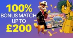 Get an Exciting 100% Bonus Match up to £200