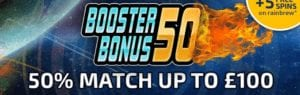 50% Match Up to £100
