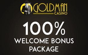 Claim a Fantastic 100% Welcome Bonus at Goldman Casino
