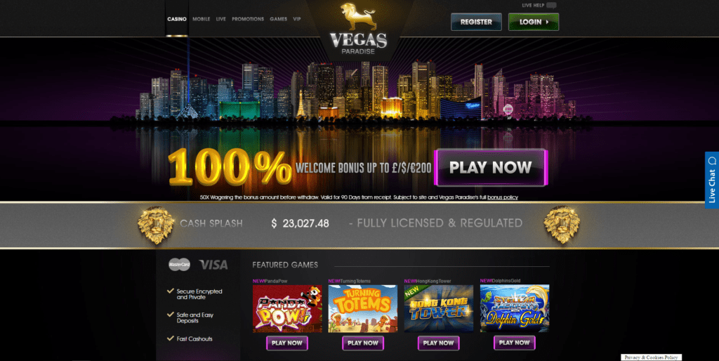 Vegas Paradise Online Casino and Slots
