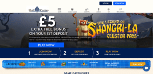 £5 Extra Bonus On Your First Deposit at Mail Casino