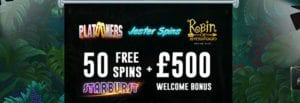 Get 50 Free Spins + £500 Welcome Bonus at Slot Fruity