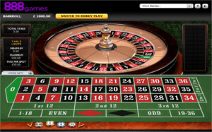 Amazing Graphics and Fair Roulette Game Play at 888 Casino