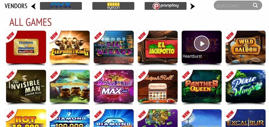 Huge Selection of Games at Jackpot Ffruity