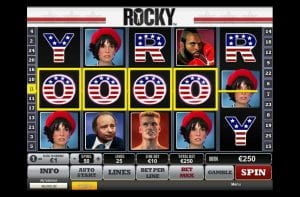 An Example of a Win Line on Rocky Slots