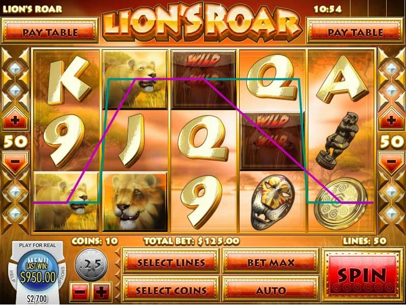 Play Lions Roar with Multiple Paylines to Win Big Money Bonuses!