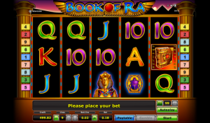 An Example of the Play Board of the Book of Ra Slot