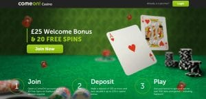 Get Your ComeOn FREE Spins Here