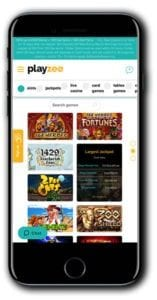 Offered is a Fully Optimised Mobile Casino Hopepage