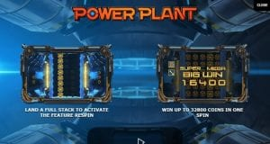 Some Details Shown From Within the Power Plant Slot Game