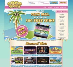 Coco Slots Casino Online Games Library
