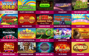 Just a Tiny Selection of Games at Elf Slots Mobile Casino