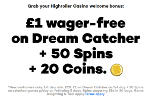 Highroller Casino Offer a Generous Welcome Bonus Upon Signing Up