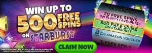 Spin the Reel to WIN 500 Starburst Spins