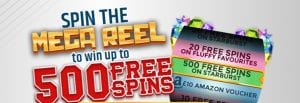 Mega Reel Welcome Offer at Yippee Slots