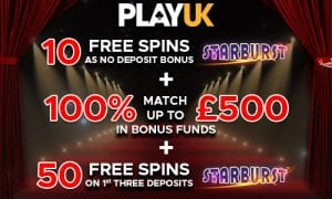 Grab Your 100% Bonus Match at PlayUK Casino