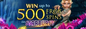 Win Up to 500 Spins on Starburst