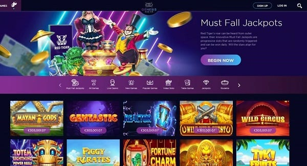 Check Out The Latest Games at Genesis Casino Today