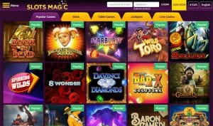 Slots Magic Casino Online Games Selection