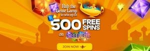 Welcome Offer for Aladdin Slots Ccasino